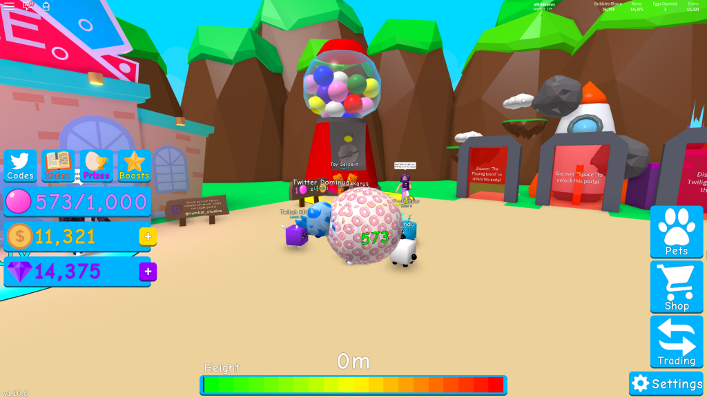 Bubble Gum Simulator All Working Codes To Get Free Coins Gems