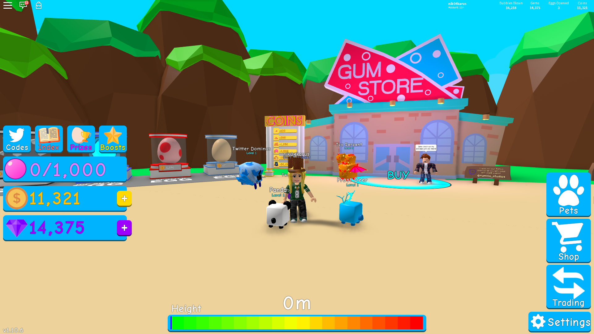 Bubble Gum Simulator All Working Codes To Get Free Coins Gems Pets And More Fan Site