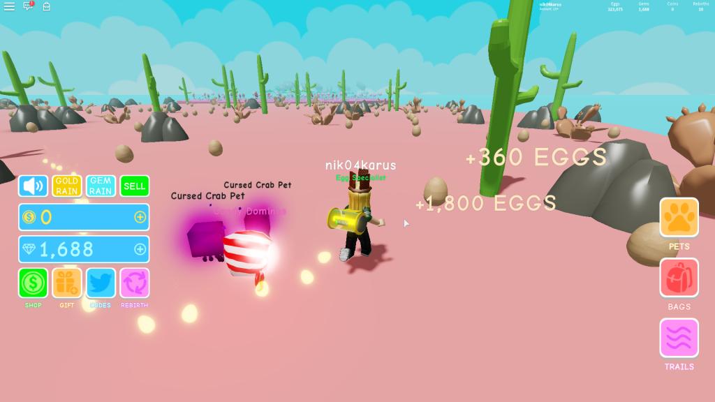 Roblox Egg Simulator all codes – Fan site
