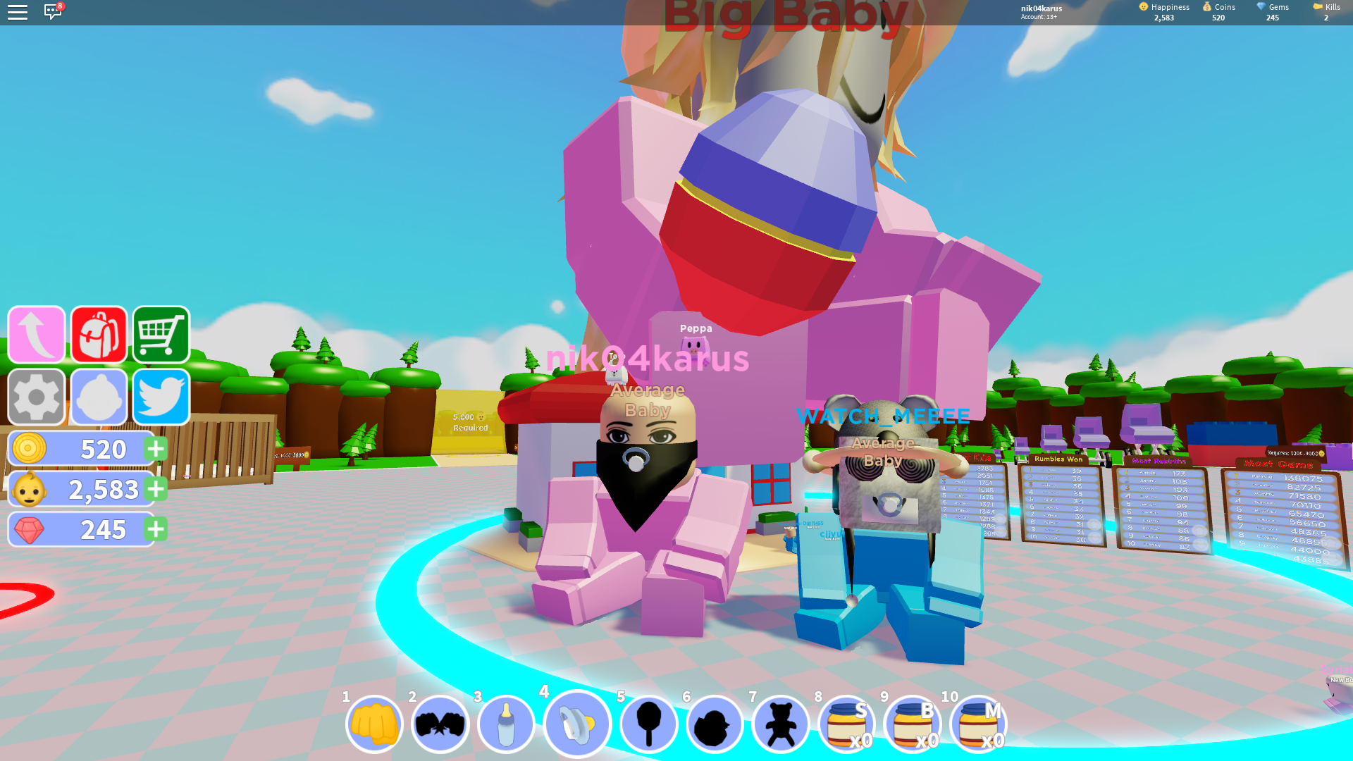 Codes To Baby Simulator On Roblox