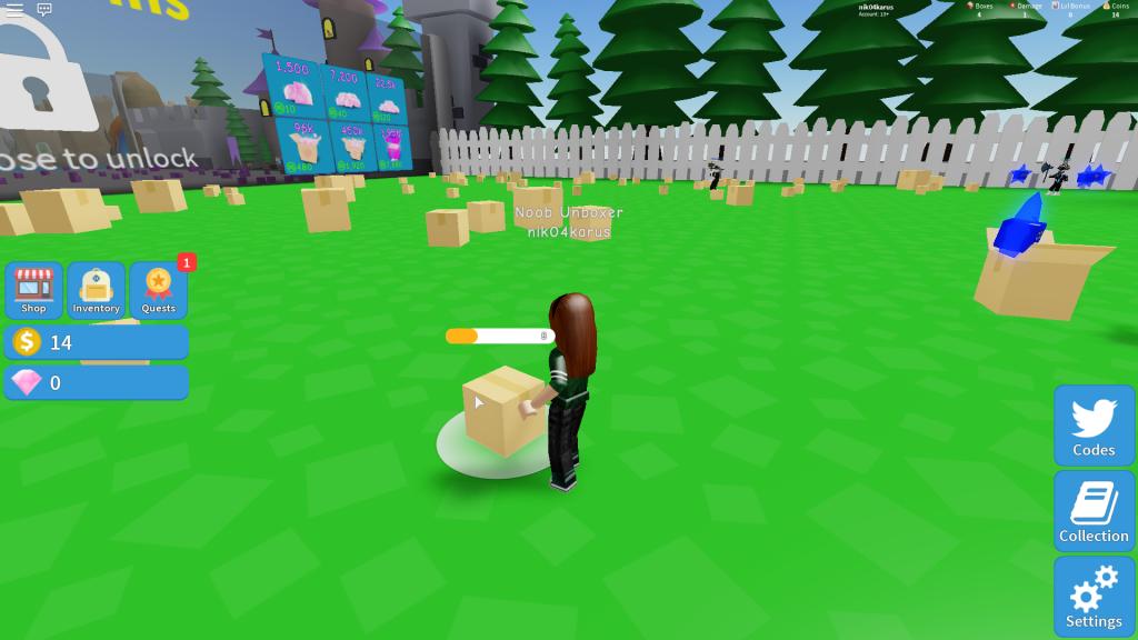 роблокс симулятор коробок