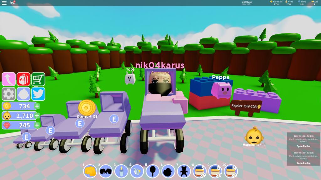 симулятор ребенка коды