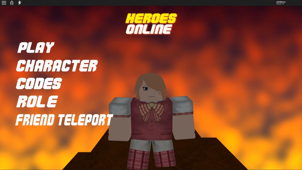 новые коды в героях онлайн в роблокс