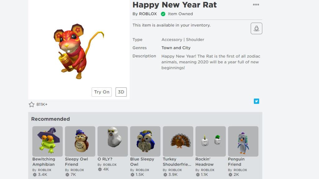 Бесплатный пет: крыса - символ 2020 года